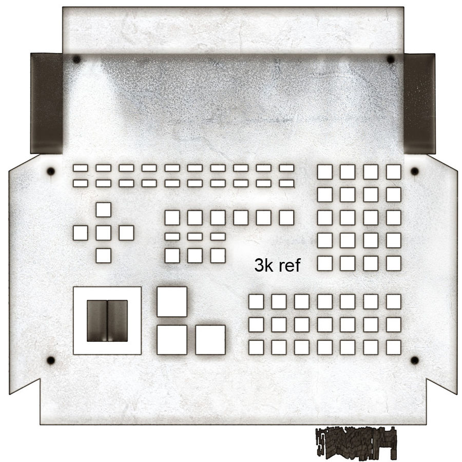 computer control station royalty-free 3d model - Preview no. 16