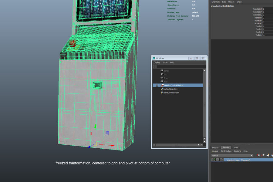 computer control station royalty-free 3d model - Preview no. 10