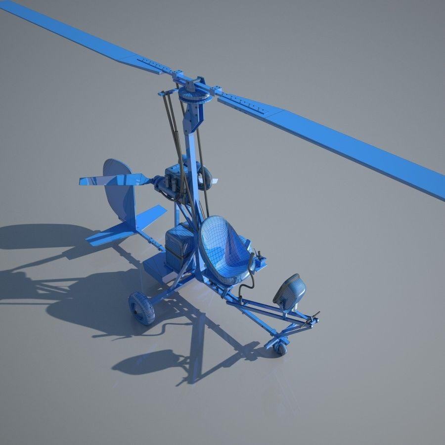 Bensen B-8 | Gyrocopter royalty-free 3d model - Preview no. 1