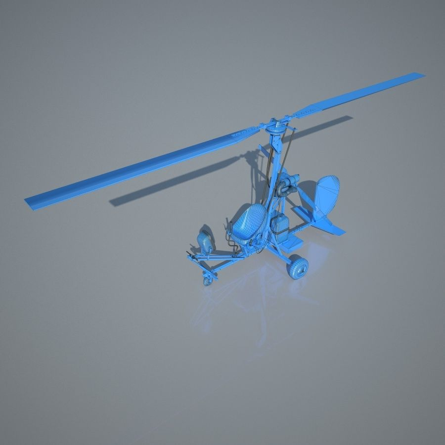 Bensen B-8 | Gyrocopter royalty-free 3d model - Preview no. 11