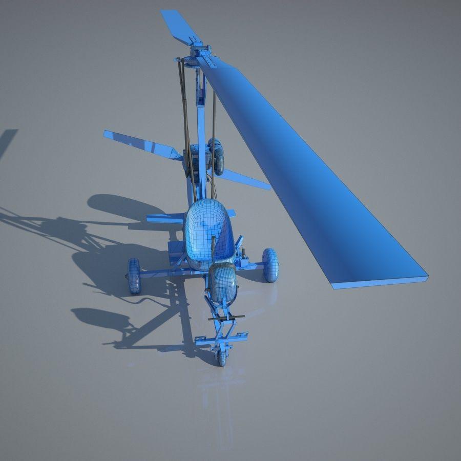 Bensen B-8 | Gyrocopter royalty-free 3d model - Preview no. 5