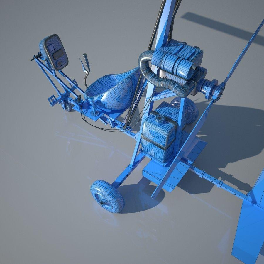 Bensen B-8 | Gyrocopter royalty-free 3d model - Preview no. 10