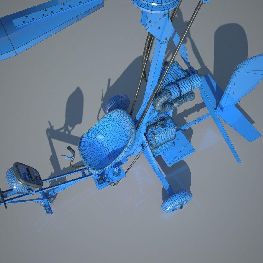Bensen B-8 | Gyrocopter royalty-free 3d model - Preview no. 6