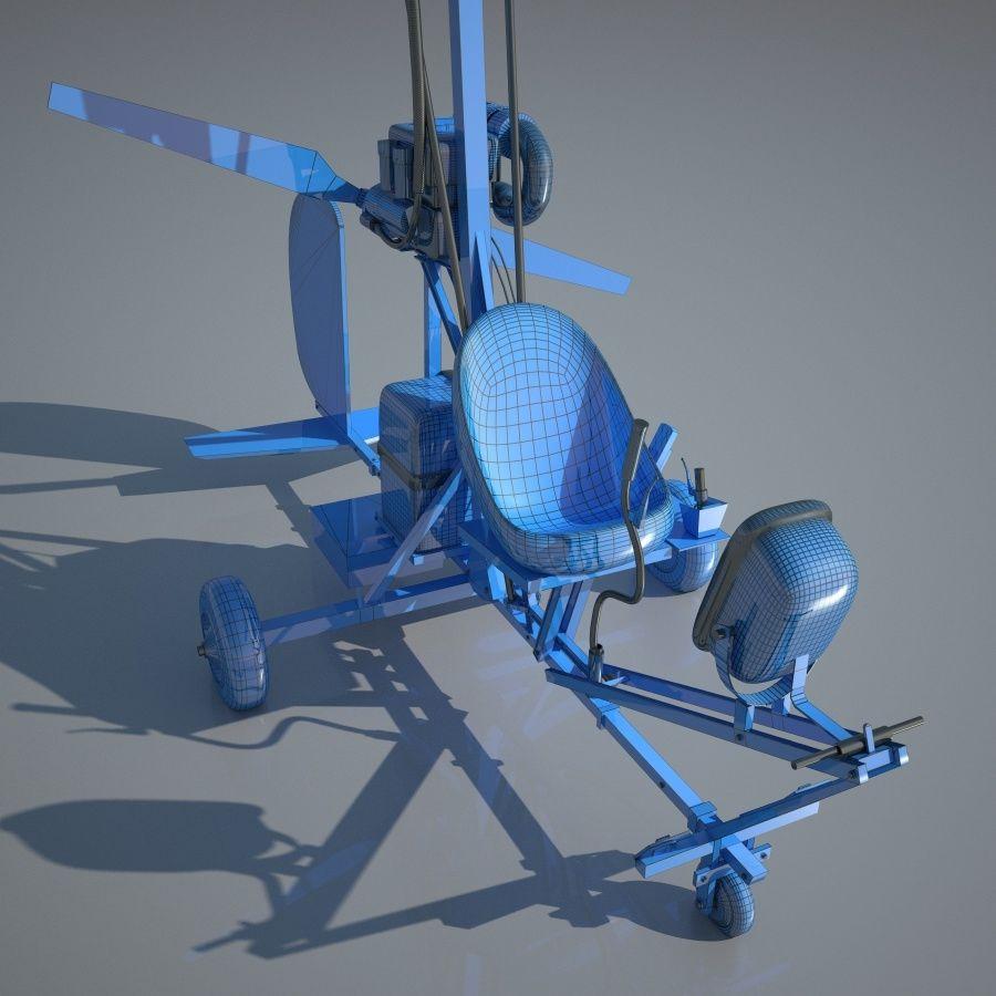 Bensen B-8 | Gyrocopter royalty-free 3d model - Preview no. 8