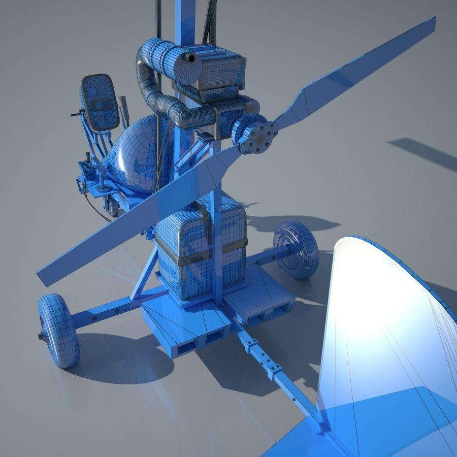 Bensen B-8 | Gyrocopter royalty-free 3d model - Preview no. 7