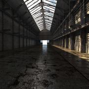 Old Warehouse Interior v2 3d model