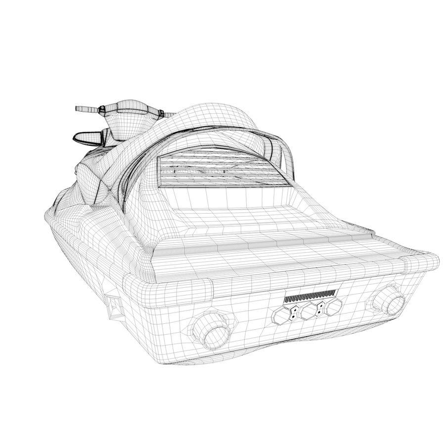 Black Jet Ski Akrojet royalty-free 3d model - Preview no. 13