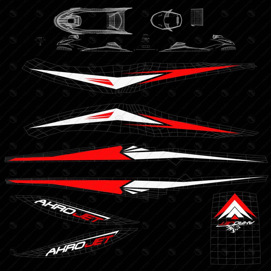 Black Jet Ski Akrojet royalty-free 3d model - Preview no. 11