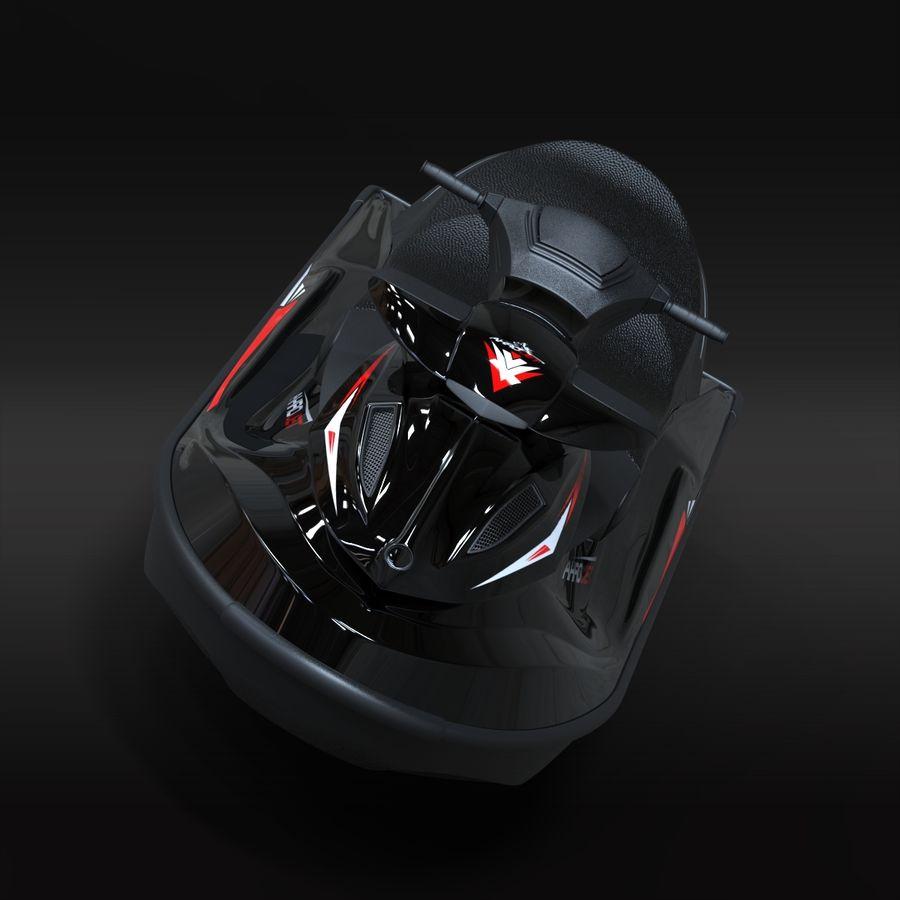Black Jet Ski Akrojet royalty-free 3d model - Preview no. 6