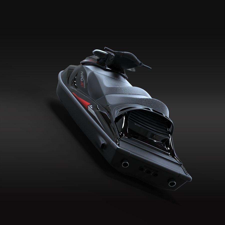 Black Jet Ski Akrojet royalty-free 3d model - Preview no. 8