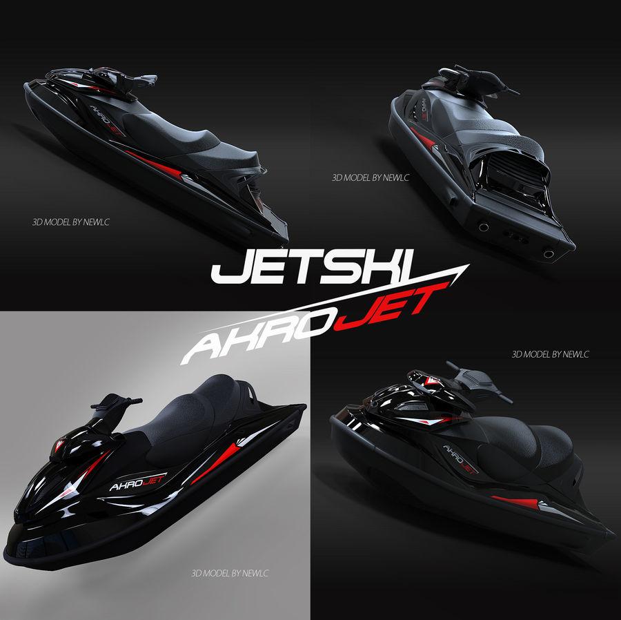 Black Jet Ski Akrojet royalty-free 3d model - Preview no. 12