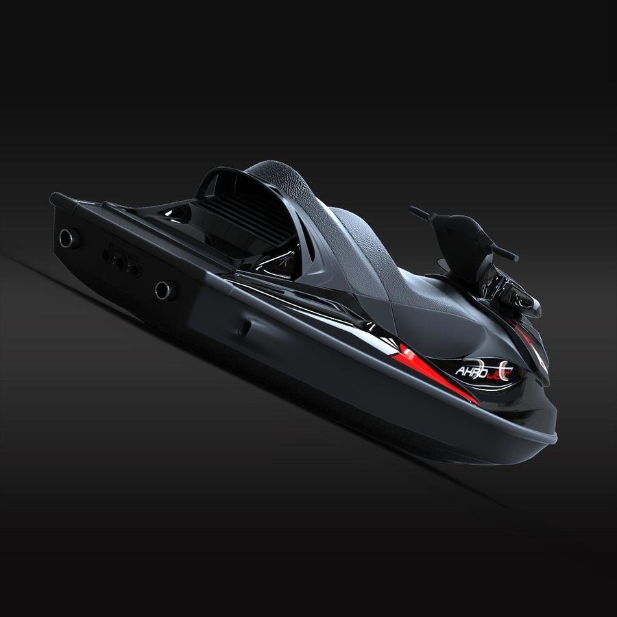 Black Jet Ski Akrojet royalty-free 3d model - Preview no. 9