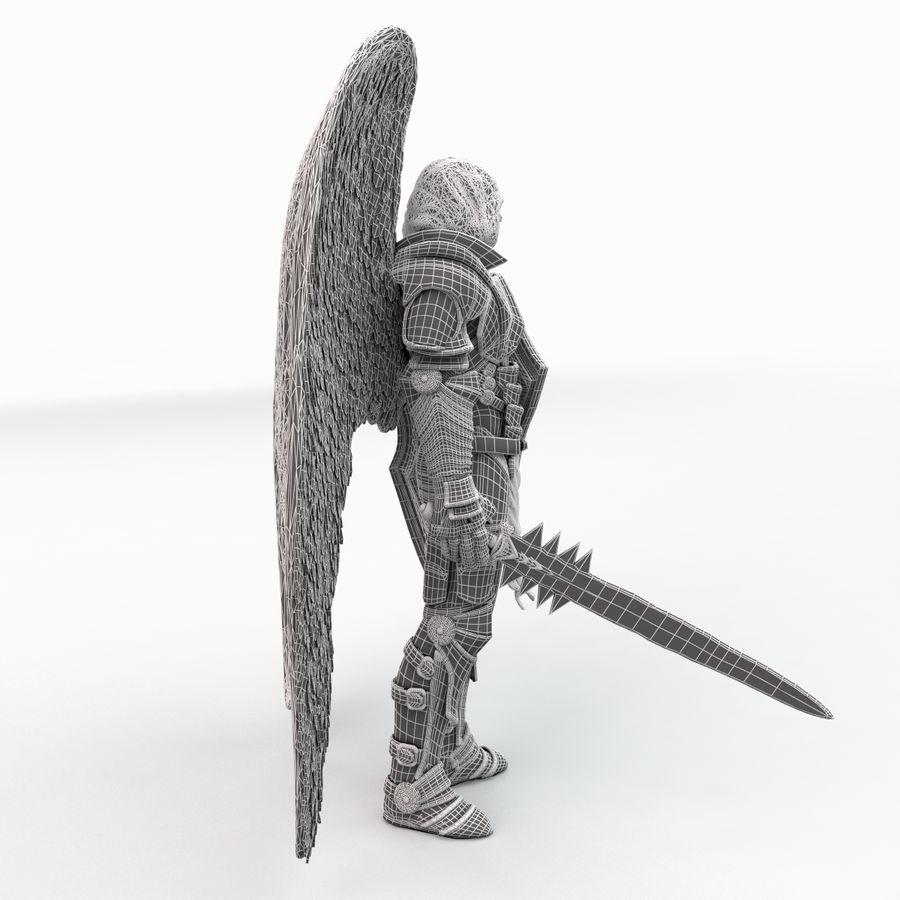 Statua anioła royalty-free 3d model - Preview no. 18