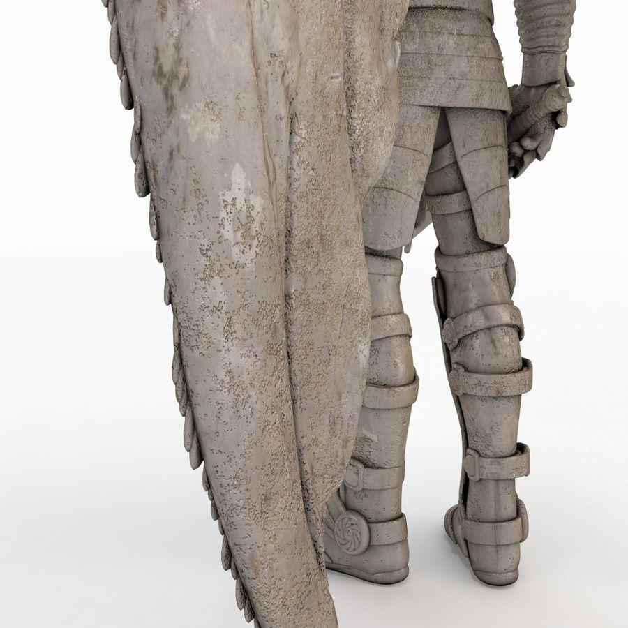 Statua anioła royalty-free 3d model - Preview no. 10