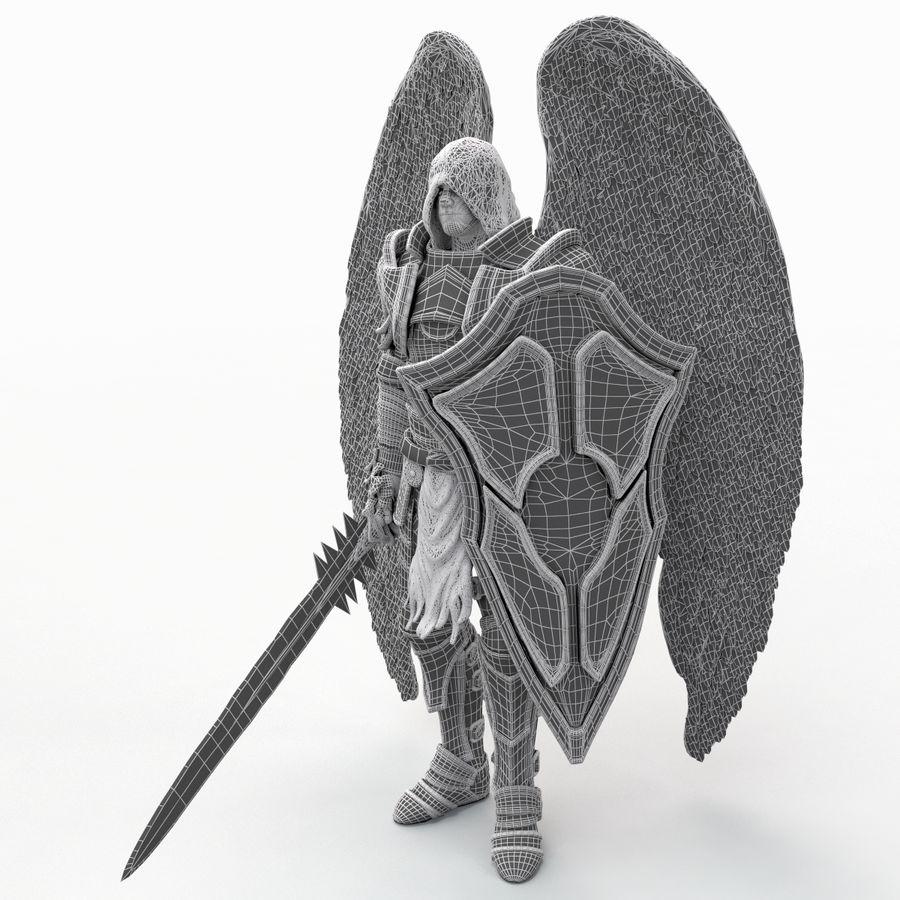 Statua anioła royalty-free 3d model - Preview no. 21