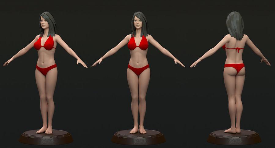 Bikini femme royalty-free 3d model - Preview no. 2