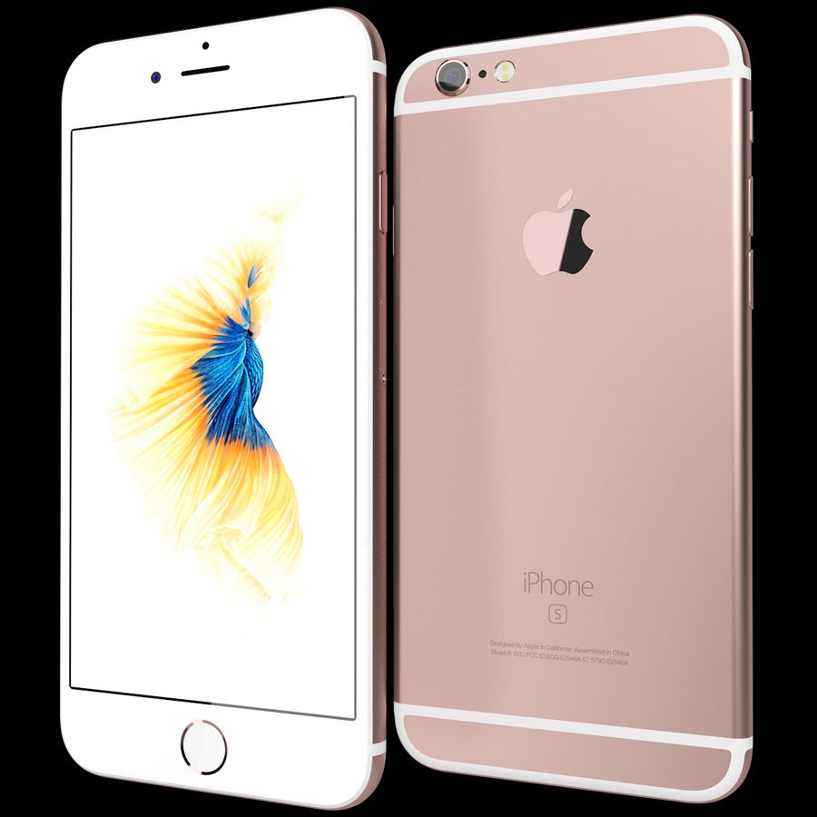 Kolekcja Apple iPhone 6s i 6s Plus royalty-free 3d model - Preview no. 42