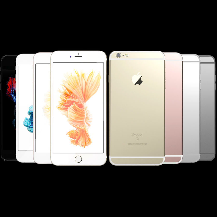 Kolekcja Apple iPhone 6s i 6s Plus royalty-free 3d model - Preview no. 88