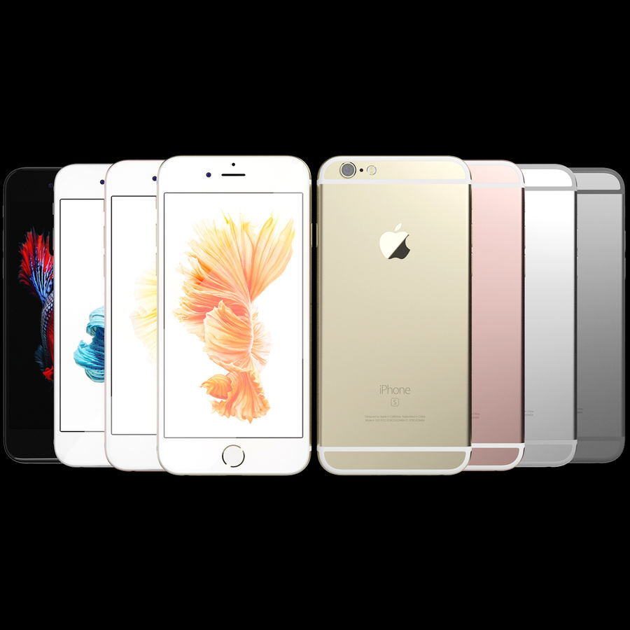 Kolekcja Apple iPhone 6s i 6s Plus royalty-free 3d model - Preview no. 3