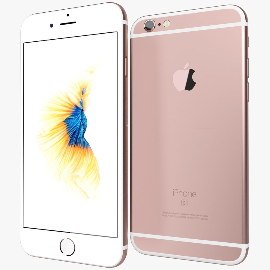 Kolekcja Apple iPhone 6s i 6s Plus royalty-free 3d model - Preview no. 41