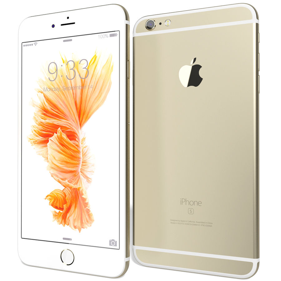 Kolekcja Apple iPhone 6s i 6s Plus royalty-free 3d model - Preview no. 93