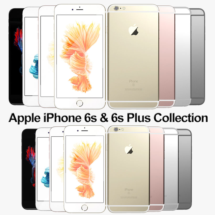 Kolekcja Apple iPhone 6s i 6s Plus royalty-free 3d model - Preview no. 1