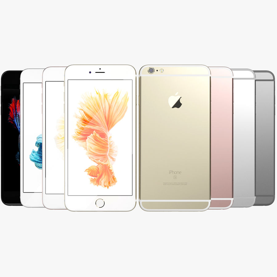 Kolekcja Apple iPhone 6s i 6s Plus royalty-free 3d model - Preview no. 87
