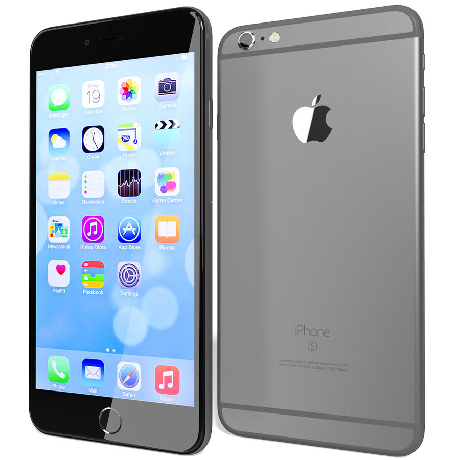 Kolekcja Apple iPhone 6s i 6s Plus royalty-free 3d model - Preview no. 111