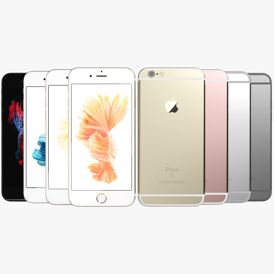 Kolekcja Apple iPhone 6s i 6s Plus royalty-free 3d model - Preview no. 2