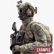 Soldato della forza speciale degli Stati Uniti 3d model