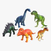 Zabawkowe dinozaury 3d model