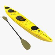 Raketli Kayak 2 Sarı 3d model