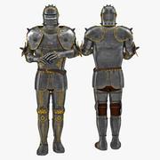 鎧の中世のスーツ3 3Dモデル 3d model