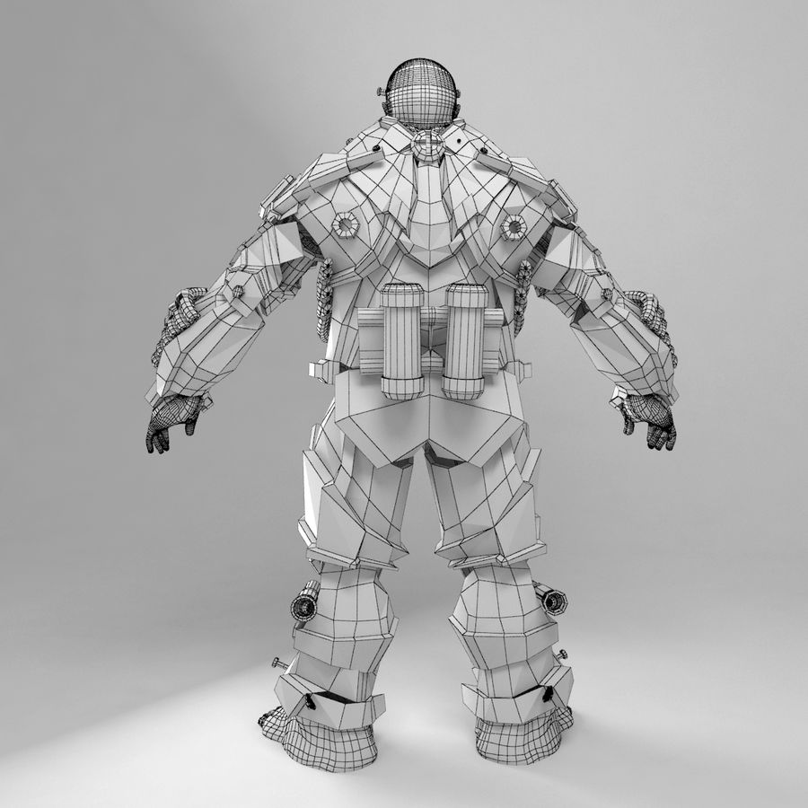 Cyborg royalty-free 3d model - Preview no. 9
