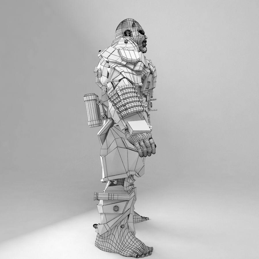 Cyborg royalty-free 3d model - Preview no. 11