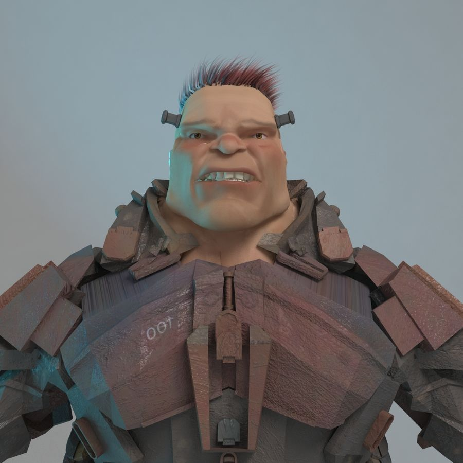 Cyborg royalty-free 3d model - Preview no. 3