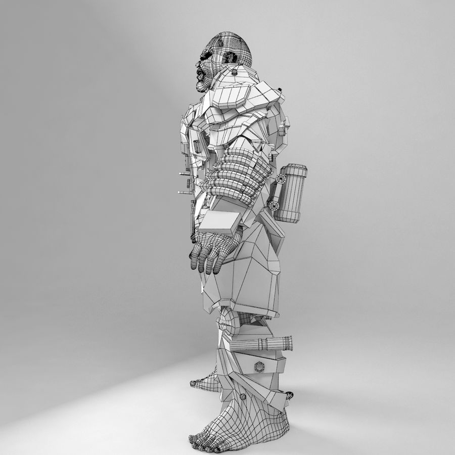 Cyborg royalty-free 3d model - Preview no. 10