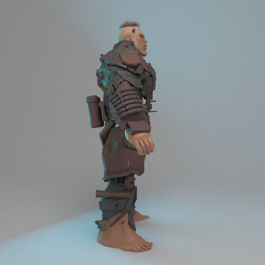 Cyborg royalty-free 3d model - Preview no. 6