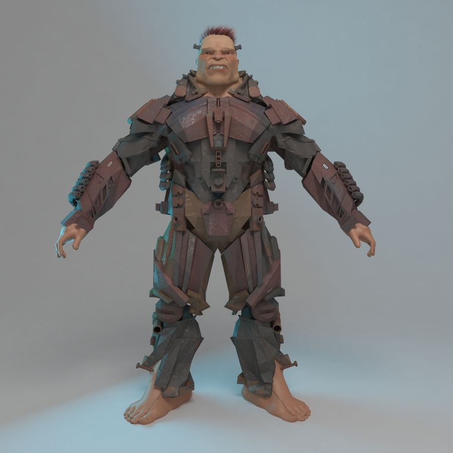Cyborg royalty-free 3d model - Preview no. 5
