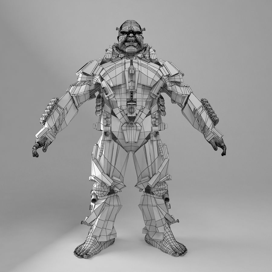 Cyborg royalty-free 3d model - Preview no. 8