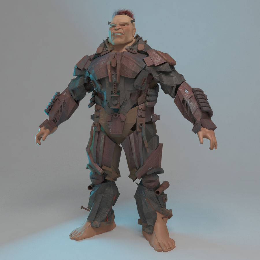 Cyborg royalty-free 3d model - Preview no. 2