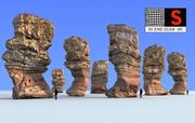 Monumento rupestre 8K 3d model