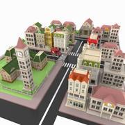 Cartoon City 3 3d model