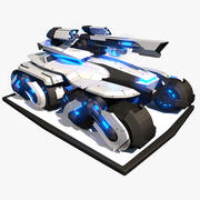 科幻APC 3d model
