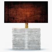 Porta Romana Cystal strata lampa GLB16 3d model