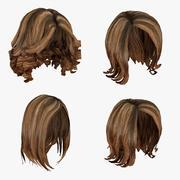 Kvinnlig frisyr, hårpaket 3d model