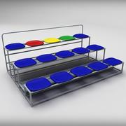 Mała trybuna stadionowa 3d model