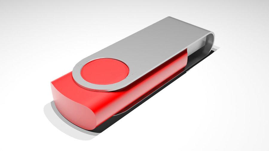 USB Stick royalty-free 3d model - Preview no. 3