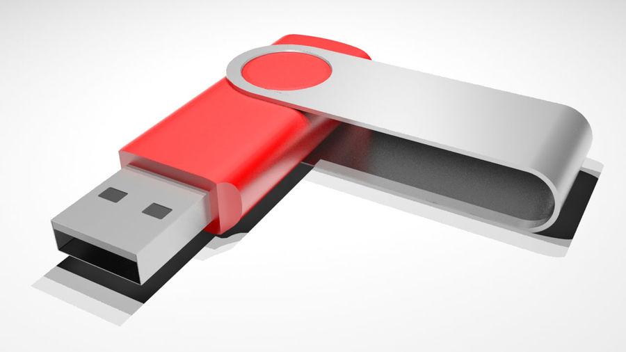 USB Stick royalty-free 3d model - Preview no. 2