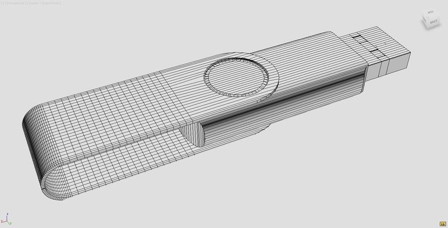 USB Stick royalty-free 3d model - Preview no. 6